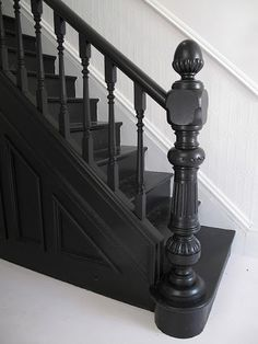 Love black painted stairs http://www.desiretoinspire.net/blog/?currentPage=2