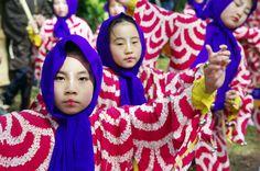 02 Akita Hachirogata town Child Gannin Dance 2015 2015年5月5日 八郎潟町 一日市神社 子供願人踊り