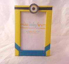 Despicable me yellow minion Phil photo frame by DearDarlingHome
