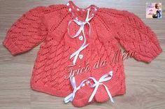 CASAQUINHO DA GLÁUCIA  PALA http://tricodameia.blogspot.com/ Montar 65 pontos na agulha nº 3 Fazer 2 cordões em tricô e 1 carrei...