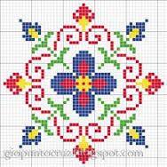 Resultado de imagen de flores sencillas pixeladas para punto de cruz