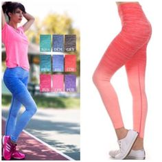 Order Now - Ombré Leggings Comment to be notified upon arrival . Colors : blue and coral only  . Nwt $29 sizes are limited S M L XL arrives 3/7 Vivacouture Accessories Hosiery & Socks