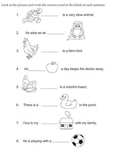 Fill in the blanks using is and are | Subject Verb Agreement ...