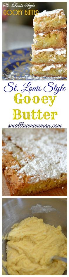 If you have never tried a Gooey Butter Cake you must really treat yourself! This is one of those regional recipes. Louis original recipe or at least that is what I have always been told (Gooey Butter Brownies) 13 Desserts, Delicious Desserts, Yummy Food, Fun Food, Baking Desserts, Cupcakes, Cupcake Cakes, Poke Cakes, Layer Cakes