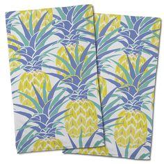 Pineapple Isle Hand Towel (Set of Nautical Pattern, Nautical Chart, Hand Towel Sets, Hand Towels, Nautical Kitchen, West Home, Girl House, Island Girl, Holiday Sales
