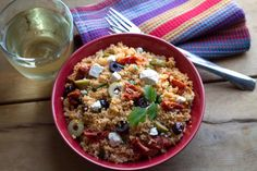 Greek Style Couscous Salad