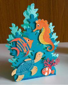 Art N Craft, Craft Work, Diy Art, Under The Sea Decorations, Under The Sea Crafts, Diy Paper, Paper Art, Paper Crafts, Summer Crafts For Kids