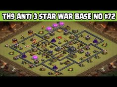 Clash of Clans | Town Hall 9 Anti 3 Star War Base | Layout 72