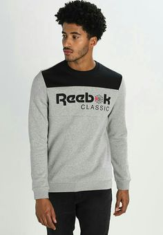 """Our model's height:Our model is """" tall and is wearing size M. Care instructions:do not tumble dry,machine wash at Rebook Classic, Reebok Classic Mens, Crew Neck Sweatshirt, Graphic Sweatshirt, Sports Hoodies, Fabric Material, Classic T Shirts, Men Sweater, Pattern Print"""