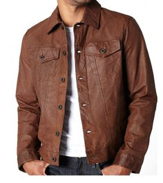 In this new Era everyone wants something new and different. So here is another superb leather jacket for those people. This top fashion style leather jacket is for our most valued customer. It is made with real leather and top quality material. Stitching is fine and it is designed with care to gi...