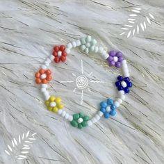 Seed Bead Jewelry, Cute Jewelry, Body Jewelry, Beaded Jewelry, Handmade Jewelry, Beaded Necklace, Beaded Bracelets, Unique Jewelry, Daisy Bracelet