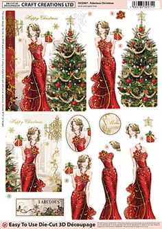 Craft Creations Online - Quality Craft Products at Unbeatable Prices Christmas Sheets, Christmas Paper, Christmas Crafts, Christmas Stuff, 3d Cards, Xmas Cards, Decoupage Printables, Deco Foil, Christmas Decoupage