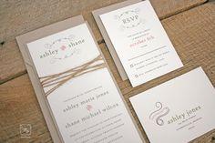 Rustic Twine Wedding Invitation Set Sample. $3.00, via Etsy.