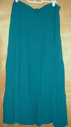 Sag Harbor Turquoise Tiered Flounce Skirt Size XL Ships Free in the USA