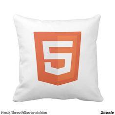 Html5 Throw Pillow