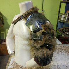 Norse shoulder armor.