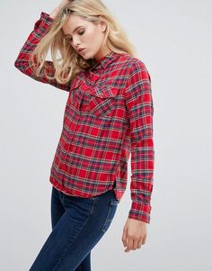 Pepe Jeans Lua Check Shirt - Red