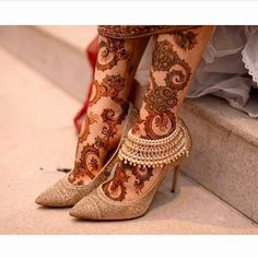 Image may contain: 1 person, shoes Mehndi Designs Feet, Legs Mehndi Design, Indian Mehndi Designs, Stylish Mehndi Designs, Bridal Henna Designs, Mehndi Design Photos, Anklet Designs, Beautiful Henna Designs, Henna Tattoo Designs