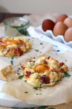 Whip them up, put them in the oven, ready in 10 minutes. Cloud Breakfast Eggs   www.alifeofgeekery.co.uk