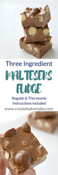 This Three Ingredient Maltesers Fudge the ULTIMATE fudge. pack of Maltesers of milk chocolate of condensed milk tin) Fudge Recipes, Gourmet Recipes, Sweet Recipes, Cake Recipes, Dessert Recipes, Malteser Recipes, Xmas Food, Christmas Cooking, Christmas Sweets