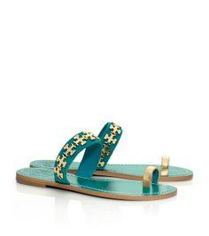 Tory Burch Val Flat Sandal : Women's Shoes | Tory Burch