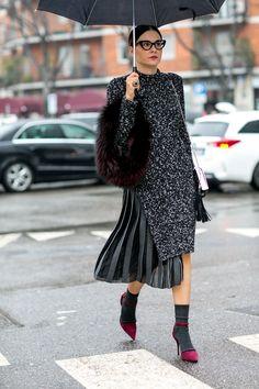 The Best of Milan Fashion Week Street Style 2015 Street Style Chic, Street Style Outfits, Milan Fashion Week Street Style, Autumn Street Style, Winter Style, Winter Chic, Fall Winter, Mode Chic, Mode Style