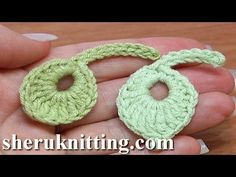 How To Crochet Little Round Leaf Tutorial 8
