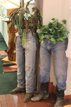 How Fun and maybe even a little creepy, but what a novel idea. I'm going to do this with old jeans.