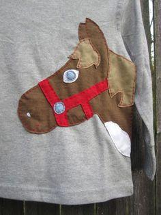Das Pony aß das Cowboy-Hut Kinder T Shirt Horse Farm Tiere Herbst