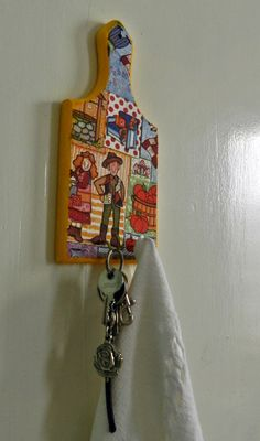 Porta chaves/pano de prato