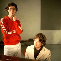 """From Kings of Convenience video """"I'd Rather Dance with You"""" Great song, Great video, Great style.  Plus it's the first time I heard Feist sing (different song, same album)."""