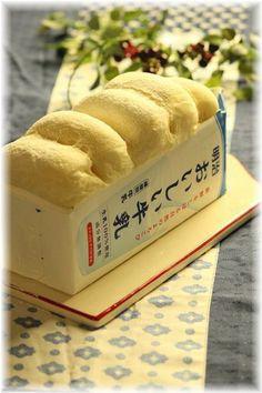 明治 おいしい牛乳 動画レシピ♪ と 牛乳パックのふわふわパン。