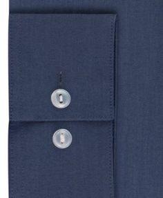 Calvin Klein Men's X Extra-Slim Fit Stretch Band Collar Dress Shirt - Blue 16-16 1/2 32-33