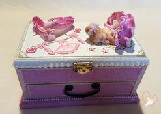 Boîte à trésors rose bébé fille ballerine - au coeur des arts - Enfants - Au coeur des Arts