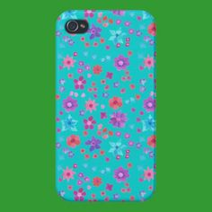 Pick up some new Flower Power iPhone cases and choose your favourite design from a variety of covers! Iphone 4, Ditsy, Iphone Case Covers, Flower Power, Flowers, Turquoise, Style, Swag, Bloemen