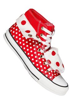 CONVERSE Womens Chuck Taylor All Star Two Fold Hi Tex varsity red/white