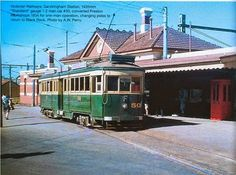 Sandringham to Black Rock tram, circa early The route was closed and ripped up in Melbourne Tram, Rapid Transit, Black Rock, My Town, Beautiful Images, Old Photos, Habitats, Transportation, Nostalgia