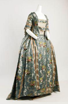1765-1770, Italy - Silk Robe à la Française