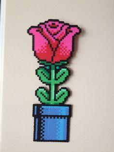 Rose perler bead sprite