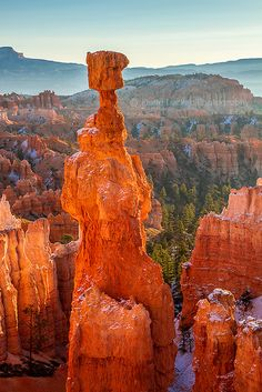 Red & Orange : Thor's Hammer at sunrise, Bryce Canyon National Park