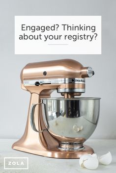 I want this as one of my gifts for my wedding!! || From timeless homewares to memorable experiences & honeymoon/cash funds, find the wedding registry gifts that fit with your style. Discover a better way to register with Zola.