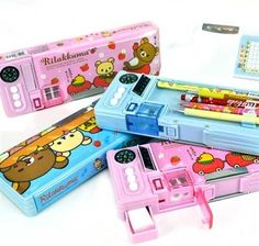 Rilakkuma may be known for being lazy, but with this pencil case, Rilakkuma is willing to help you find your way home! Think of this automatic pencil case as the ultimate survival tool in and out of school. Rilakkuma, Stationary School, Cute Stationary, Too Cool For School, Back To School, School Suplies, Kawaii Stationery, Pencil Boxes, Idee Diy