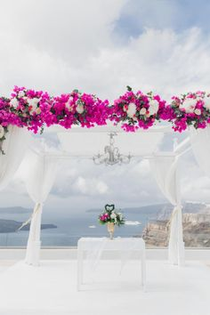 Wedding ceremony decor- Santorini Gem