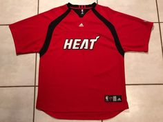 Rare ADIDAS Miami Heat STITCHED Warm-Up Shooting NBA Jersey Men's Large  | eBay