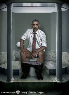 """Just when you thought you'd seen it all, Italianartist Cristina Guggeri comes along and blows it out of the water with her latest series called Il Dovere Quotidiano, or """"The Daily Duty"""". In this series, Guggeri sets out to 'humanize' the world's leaders by imaging what they might look like on the toilet. And she's […]"""