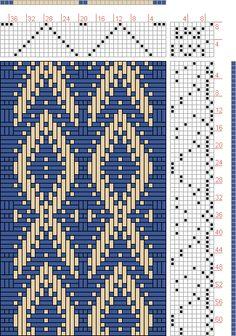 Hand Weaving Draft: Rainbow Trout, Judie Eatough, 8S, 10T - Handweaving.net Hand Weaving and Draft Archive