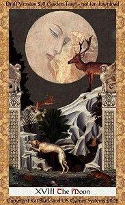 A Lua no Golden Tarot
