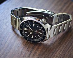 Seiko, Stainless Steel Case, Tortoise, Omega Watch, Watches, Accessories, Black, Tortoise Turtle, Turtles