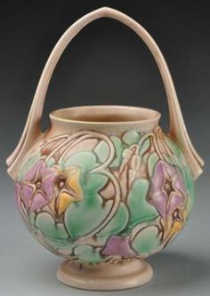 Roseville Pottery Identification and Price Guide: Roseville Morning Glory Basket