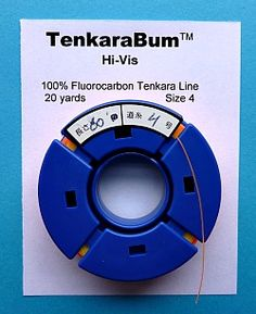 tenkara line, the neat little spool slips over the rod, lets you store a rigged line over your spare line.